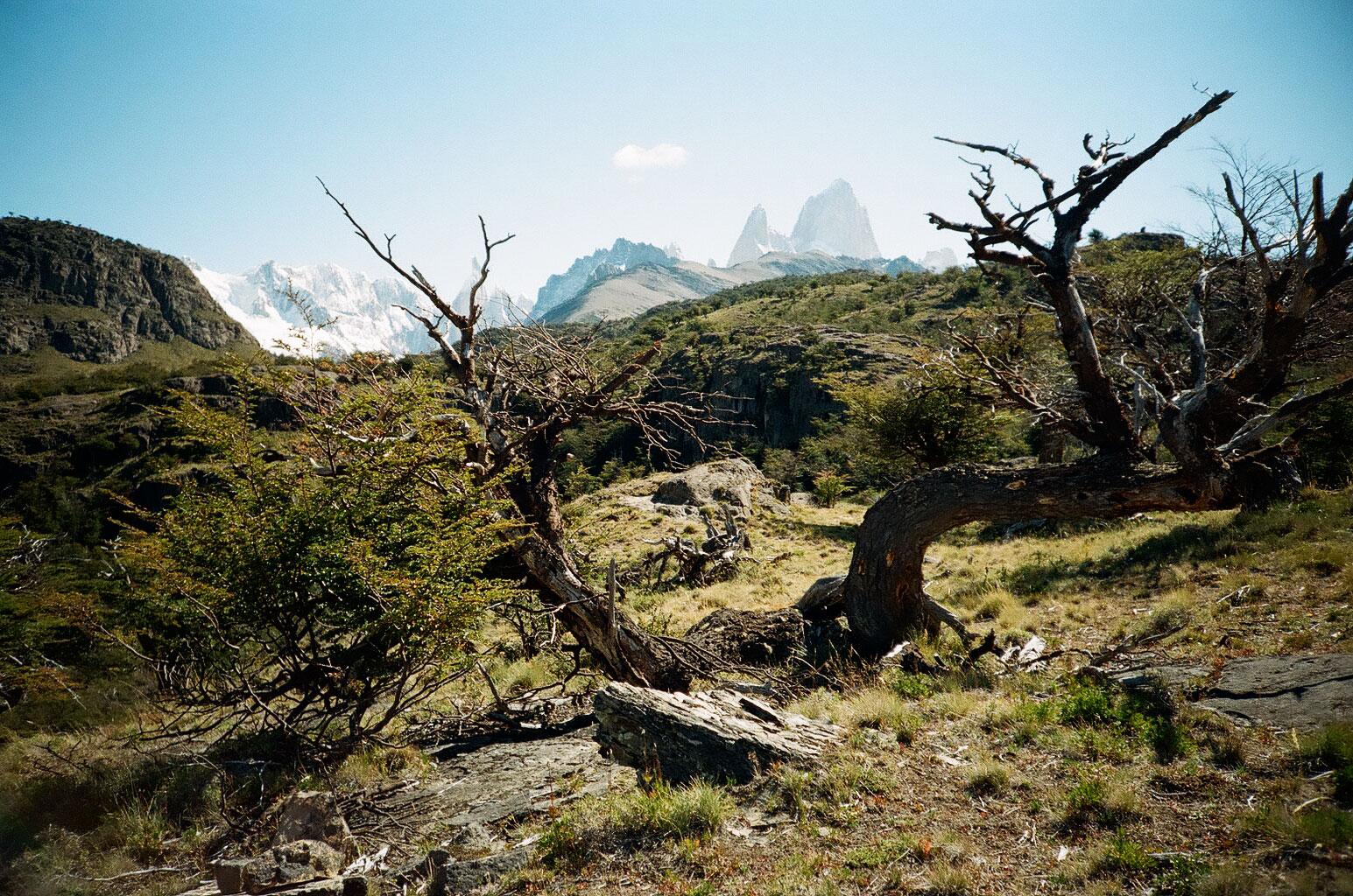 Bei einer Wanderung am Fuße des Fitz Roy, auch Cerro Chaltén genannt, eröffnen sich immer wieder atemberaubende Aussichten. Foto: Lothar Ruttner