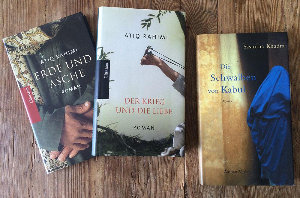 Atiq Rahimi: Erde und Asche & Der Krieg und die Liebe, Yasmina Khadra: Die Schwalben von Kabul. Foto: Lothar Ruttner