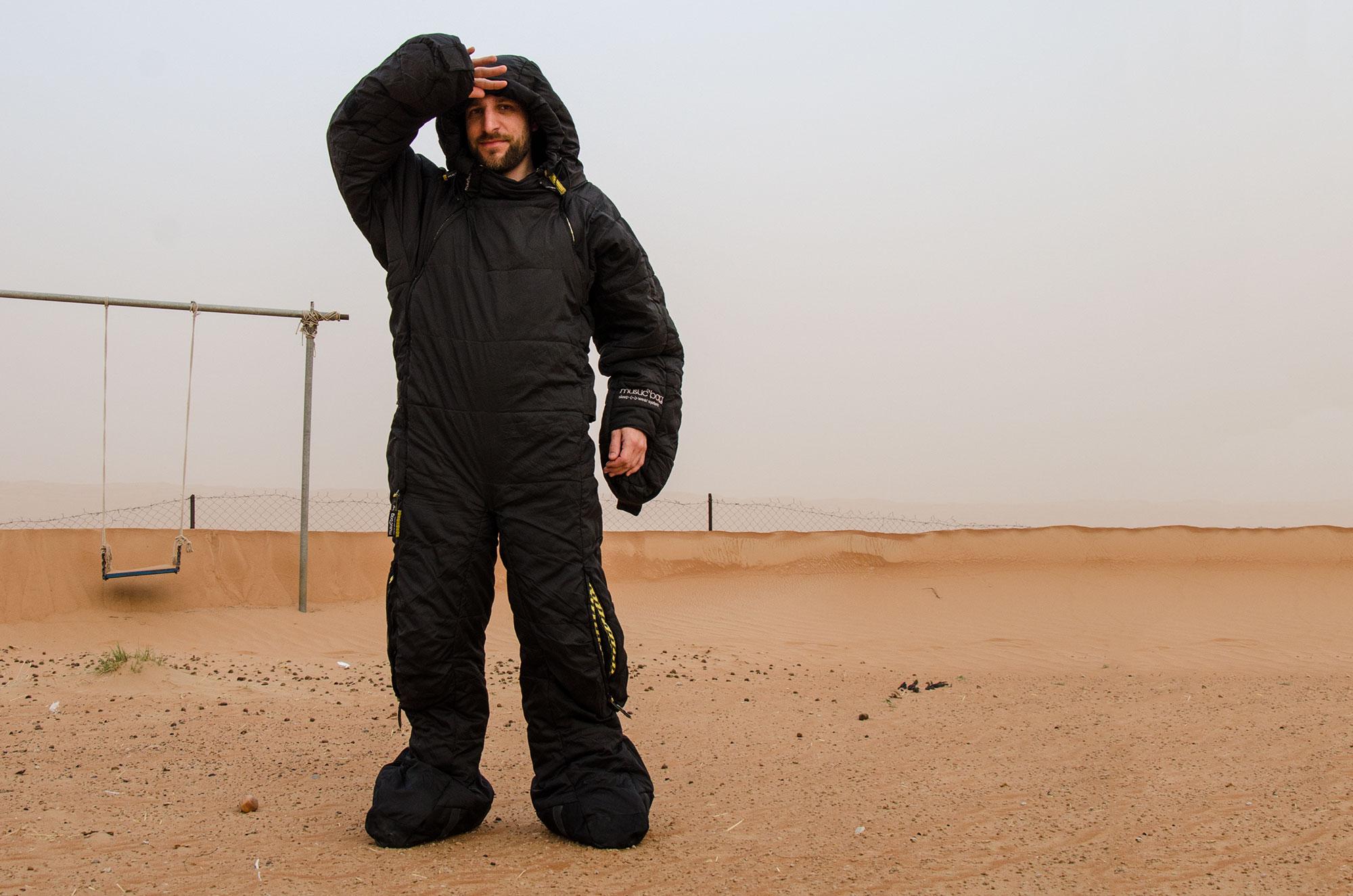 MusucBag (SelkBag), Wahiba Wüste. Foto: Gerd Jungmann