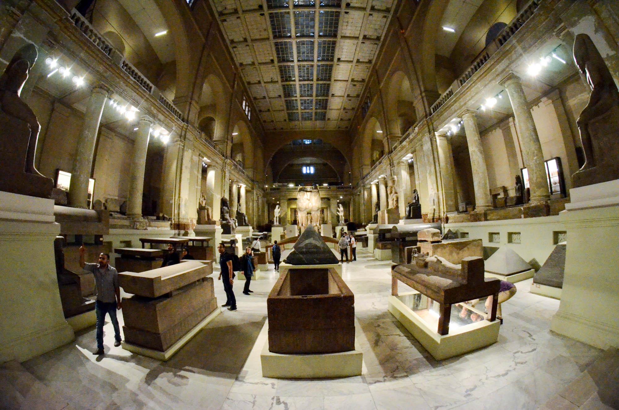 Das 1902 eröffnete Ägyptische Museum ist das weltgrößte Museum für ägyptische Kunst. 2018 sollen die meisten Exponate aus dem Museum in das neue Grand Egyptian Museum am Rande des Pyramidenplateaus von Giza übersiedeln. Foto: Matthieu Götz
