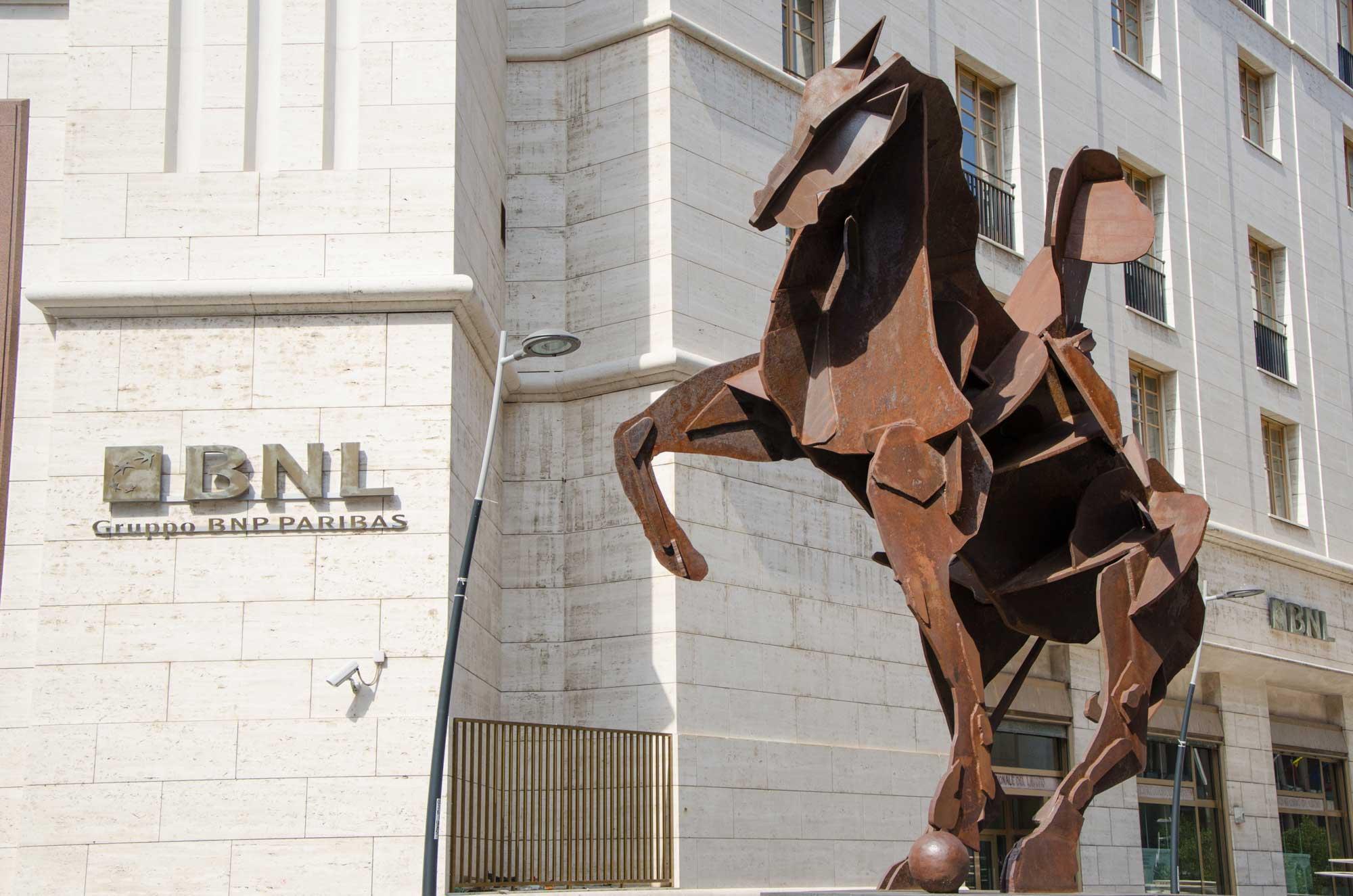 William Kentridge: Il Cavaliere di Toledo (2012). Metro Toledo, Neapel. Foto: Lothar Ruttner