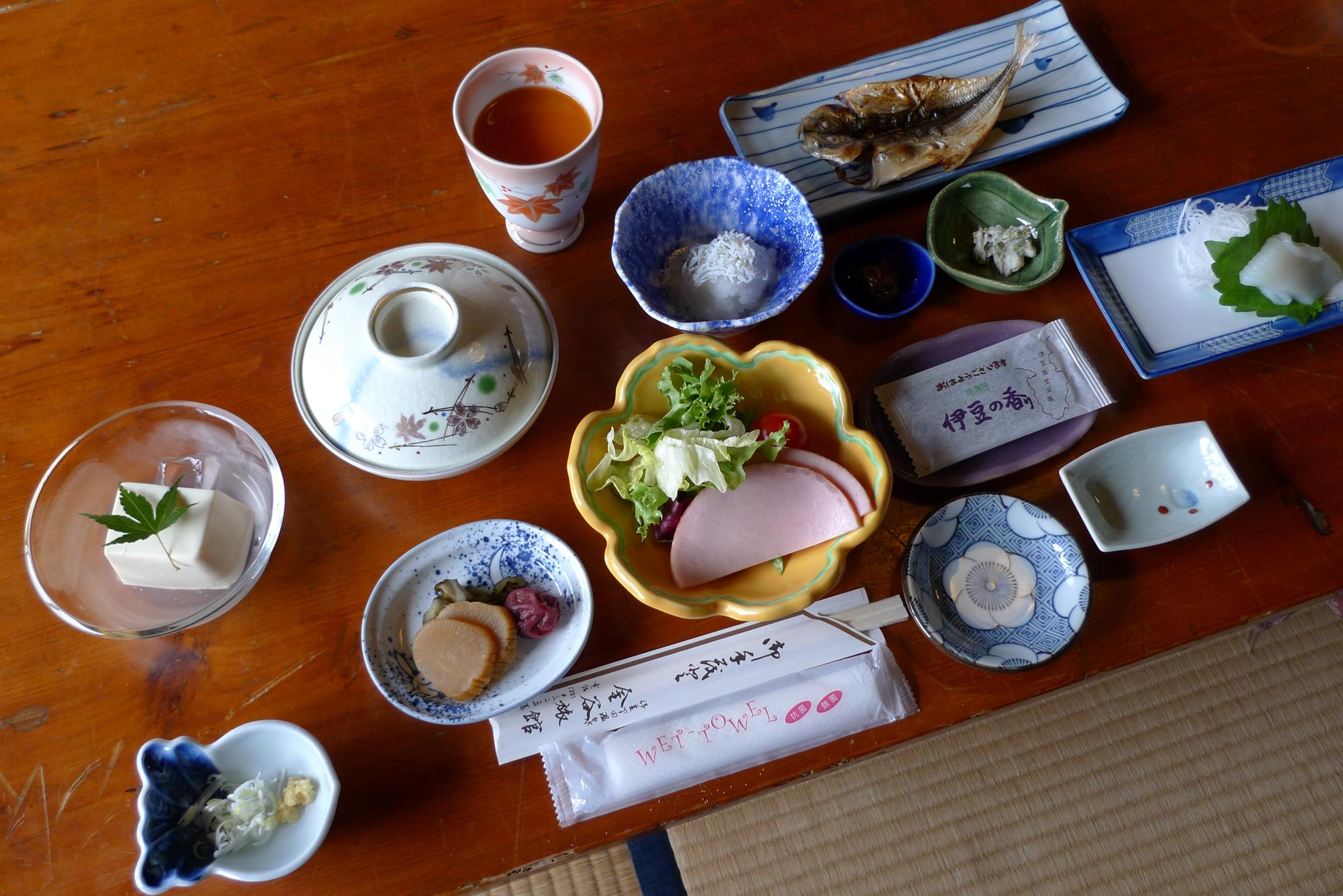 Frühstück im Kanaya Ryokan. Foto: Lothar Ruttner