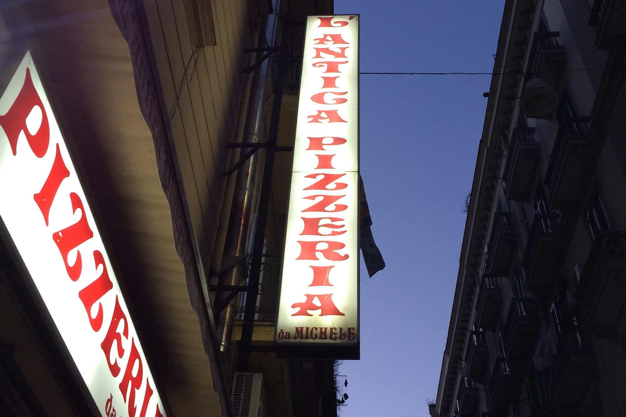 L'Antica Pizzeria da Michele, Neapel. Foto: Lothar Ruttner