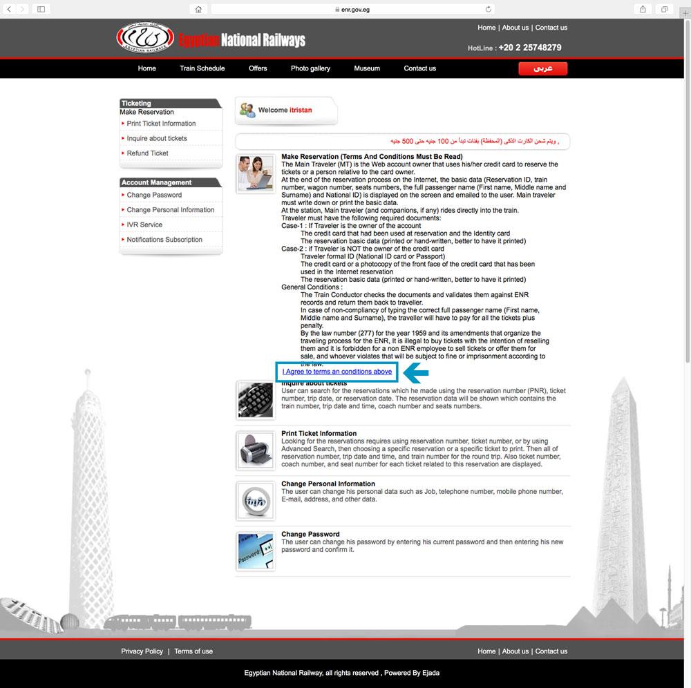 """5. Auf der nächsten Seite mit einem Klick auf """"I Agree to terms and conditions above"""" die Nutzungsbedingungen akzeptieren."""